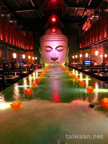 天水玥秘境鍋物殿という名の大仏御殿で食事の話